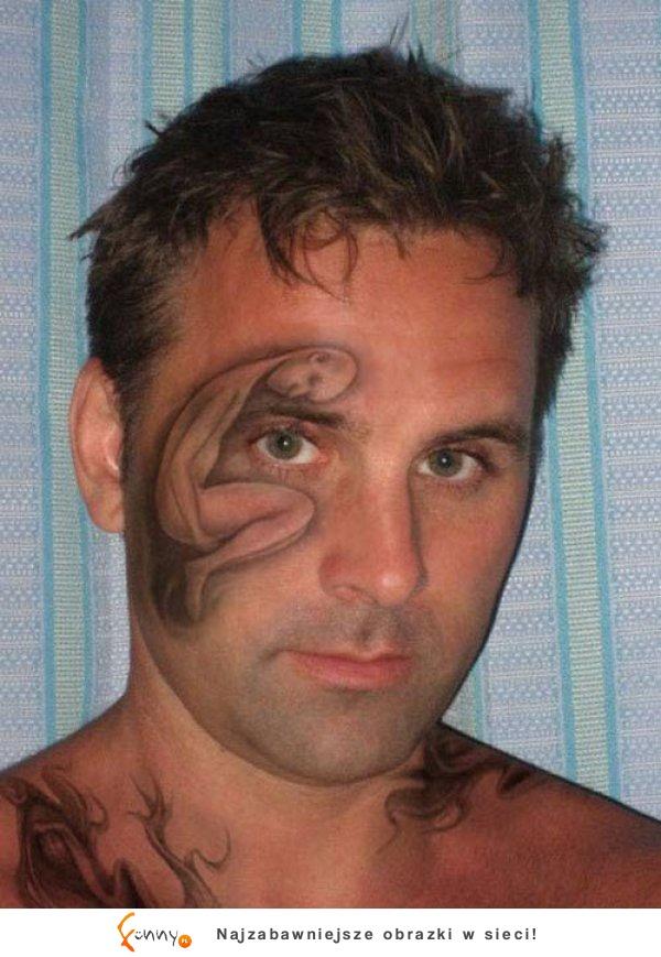 Funnypl Tatuaże Twarzy Które Nie Wyszły Zbyt Dobrze 7