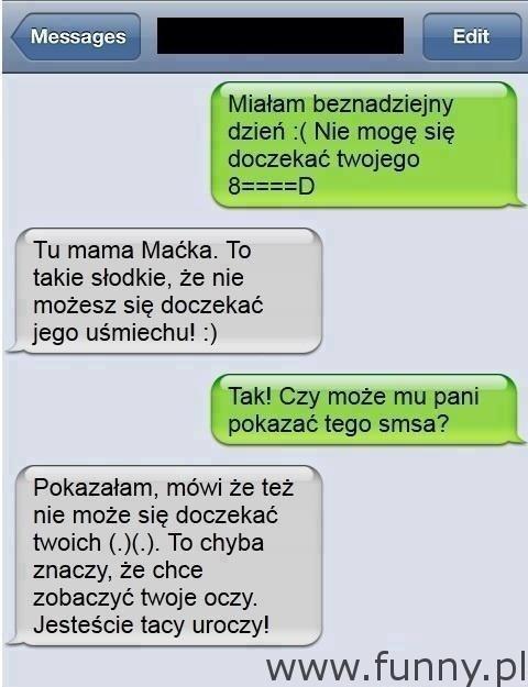 Funny Pl Laska Wysyła Erotycznego Smsa Do Chłopaka I